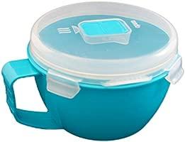 Olla para microondas 900 ml - 31.78oz azul con tapa válvula ...