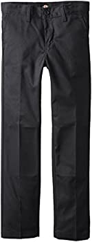 Dickies Khaki Big Boys' Flex Waist Slim Stretch Pant, Black, 10 0