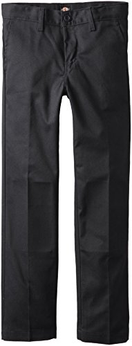 Dickies Khaki Big Boys' Flex Waist Slim Stretch Pant, Black, 16