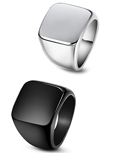 men stainless steel biker rings - 6