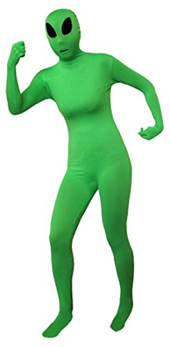 Alien Cat Costume (Seeksmile Unisex Full Body Lycra Spandex Zentai Catsuit (Medium, Alien))