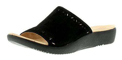 Neu Damen/Damen Schwarz Earth Spirit Pomona Slipper Pantolette - Schwarz - UK SIZES 3-9