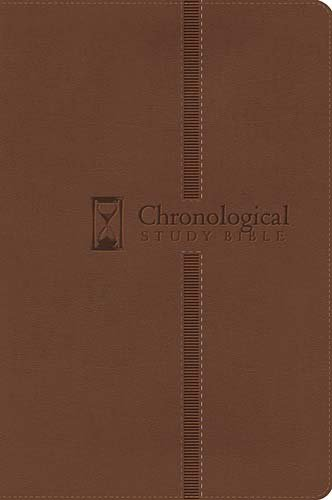 NKJV, The Chronological Study Bible, Imitation Leather, Brown