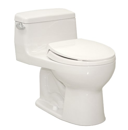 TOTO MS863113#01 Supreme Round One Piece Toilet, Cotton White