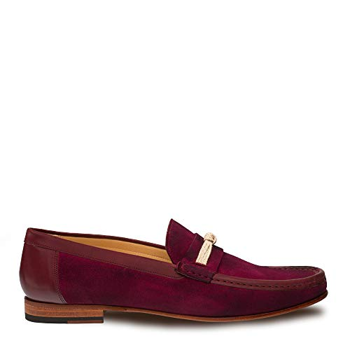 - Mezlan Segura Mens Luxury Formal Loafers - Italian Calfskin Slip-On Moccasin with Leather Sole - Handcrafted in Spain - Medium Width (12, Burgundy)