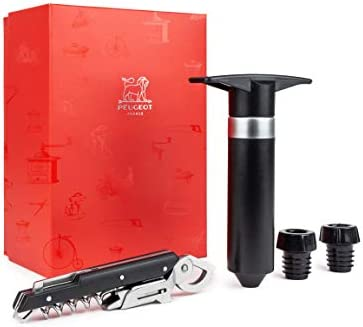 Peugeot Saveurs 200718les Instruments del Sommelier–sacacorchos clavelin + bomba de vacío Epivac, Negro