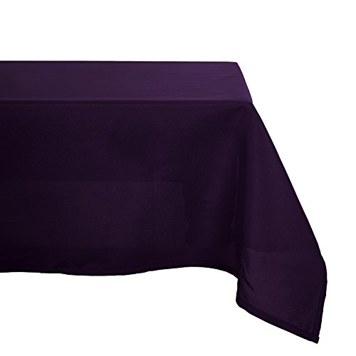 Deconovo Solid Oxford Decorative Rectangle/Oblong Water Resistant Tablecloth For Picnic, 60x102-inch, Dark Purple …