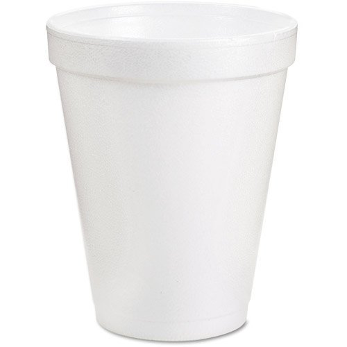 DART Drink Foam Cups, 8 oz., White, 1000 Count