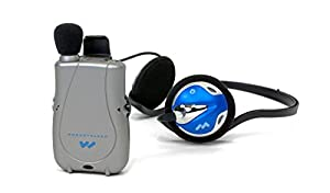 Williams Sound PKT D1 H26 Pocketalker ULTRA Personal Amplifier -INCLUDES- Far End Gear ECVM Single Noise Isolating Earbud w/Mic, Blucoil 6' Earphone Extension Cable, 4 AAA Batteries AND 5 Cable Ties from blucoil