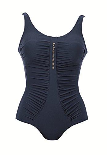 Anita Care Womens Asmera Mastectomy One-Piece Swimsuit, 08C, Dark Blue