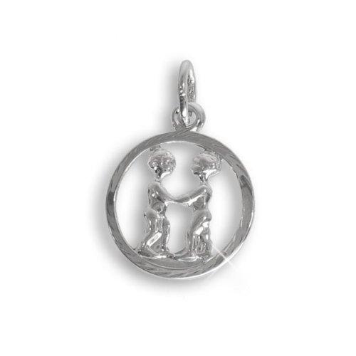 Sternzeichen Anhänger für Kinder Zwilling Sterling Silber 925 (213279) Viennagold