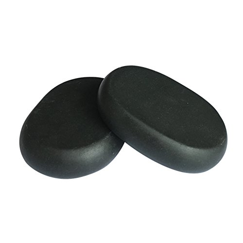 Lifetop 2pcs /lot Massage Large Stones Massage Lava Natural Stone Set Hot Spa Rock Basalt Stone (3.14 x 2.36 in) from lifetop