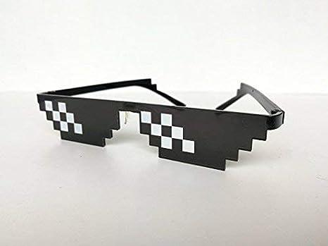 Thug Life Glasses Mosaic Masculine 8 bits Style Gafas de Sol ...