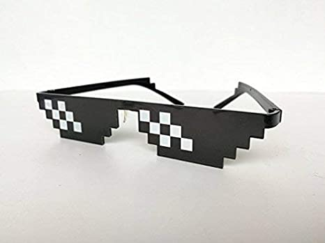 Thug Life Lunettes Mosaik Masculine 8 Bits Stil Pixel Sonnenbrille ... e3f5fb9c1dba