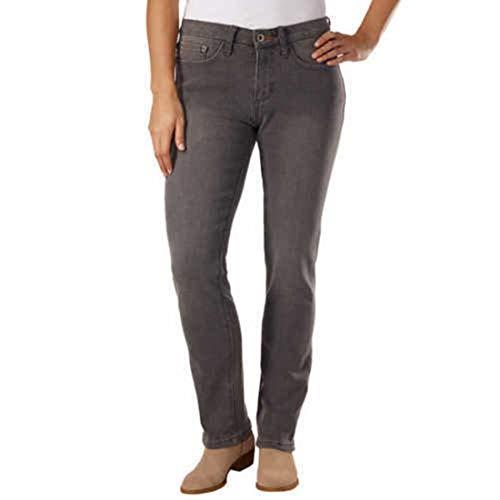Pants Jeans Velvet (Weatherproof Vintage Women's Flannel Bonded Warm Jeans/Velvet Bonded Warm Jeans (12, Gray))