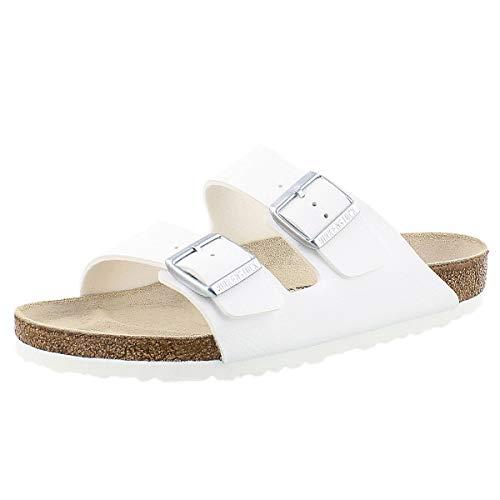 Birkenstock Unisex Arizona White Sandals - 8-8.5 B(M) US ()