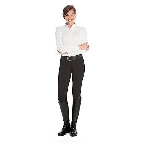 Ovation Ladies aerowick Kneepatch Breech B07B51ML68  トープ単色 Small