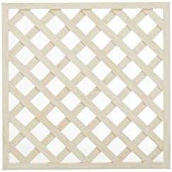 樹脂製 ウッディープラフェンス(ラティス)90x90 (ホワイト)
