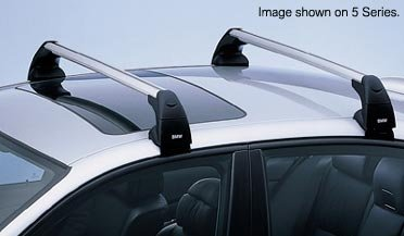 Bmw 5 Series Cross (BMW 5 Series (E60 sedan) Genuine Factory Profile Roof Rack Crossbars 2004 - 2009)