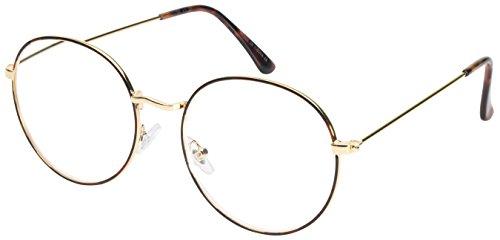 Edge I-Wear Retro Inspired Iconic Style Round Metal Frame Reading Glasses - Eyewear Iconic