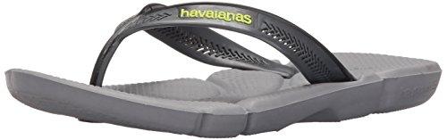 Havaianas Men's Power Flip Flop Sandal,Steel Grey/Grey, 41/42 BR(11-12 M US Women's / 9-10 M US Men's) from Havaianas