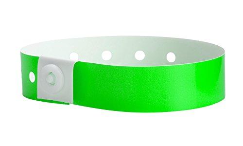 WristCo Plastic Wristbands, Neon Green (P1-01)