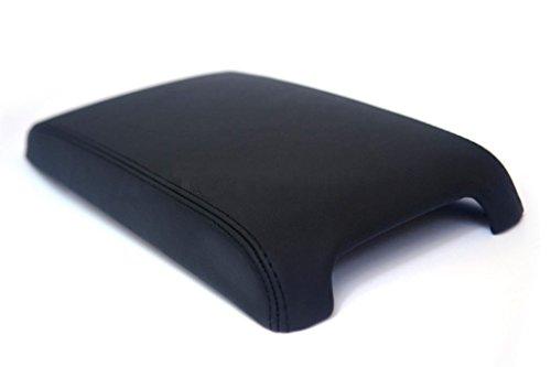 (Autoguru Toyota Camry 12-17 Center Console Armrest Real Leather Cover Black)