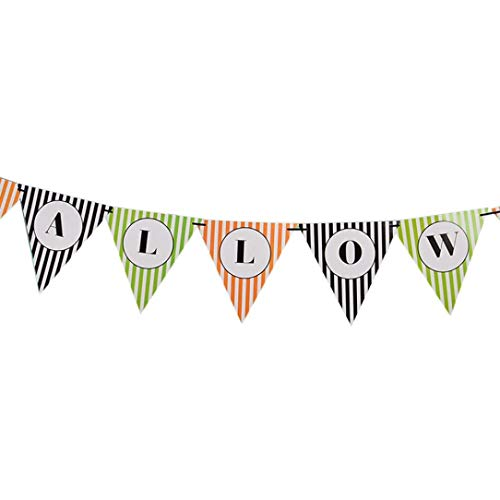 Halloween Decoration Sets,Colorful Hanging Bunting Banner Decorations Pumpkin