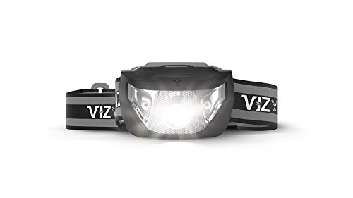 247 Viz LED Headlamp Flashlight - See The Road and Stay Safe - 5 Modes, 3 Bright White & 2 Red Lights, Lightweight & Waterproof : Running, Hiking, Camping, Dog Walking & Night Safety for Kids (Black) (Lite Race Suit)