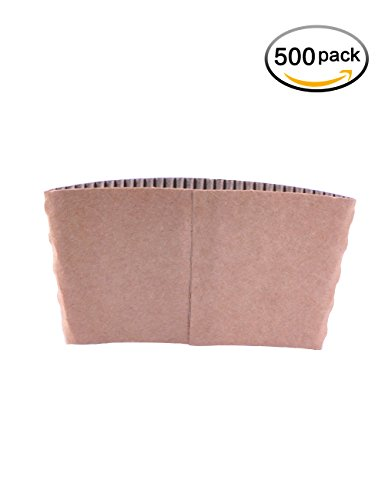 Gotopack Disposable Coffee Cup Sleeves Provide Great Insulation Protective Corrugated Paper Cup Sleeves 500 pack
