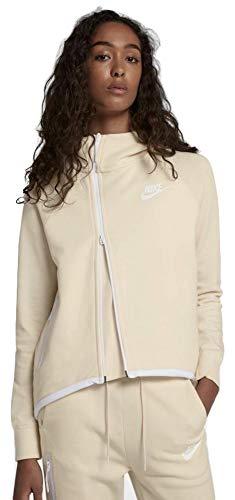 Nike Sportswear Women's Tech Fleece Full Zip Cape Hoodie Guava Ice (Small)