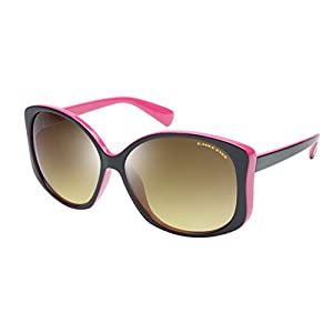 Eagle Eyes OH JACKIE Womens Polarized Sunglasses, Black/Pink Frame, Gradient Lens