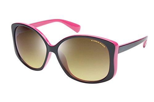 Eagle Eyes OH JACKIE Womens Polarized Sunglasses, Black/Pink Frame, Gradient Lens (Sunglasses Bikers Collection Fastrack)