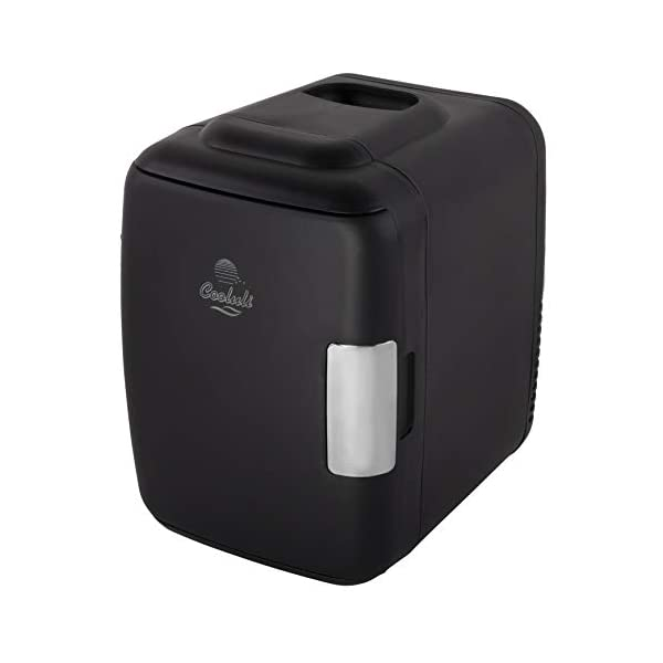 Cooluli Mini Fridge Electric Cooler and Warmer (4 Liter / 6 Can): AC/DC Portable Thermoelectric System