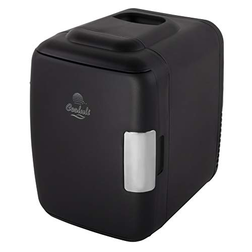 - Cooluli Classic 4-liter Compact Cooler/Warmer Mini Fridge for Cars, Road Trips, Homes, Offices and Dorms (Black)