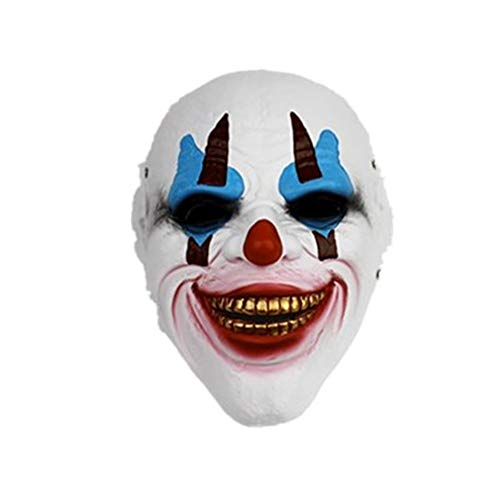 Halloween, Batman, Clown, Dark Night, Knight Rise, cos Costume Ball, Exquisite Resin Horror mask (Clown) White