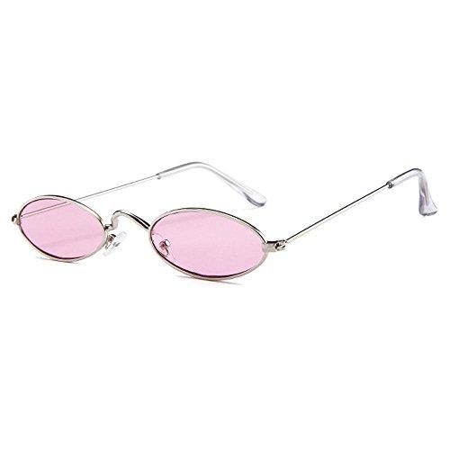 Gafas Ojo Sol para Metal Metal pequeñas Retro de de de ovaladas Delgado de Hombres de Marco Grey Sol de Gato Lens Fram Metal Colores Caramelos Mujeres ovaladas Pink Lens Fram Gafas Gold Silver FOONEE AxwU0Xq