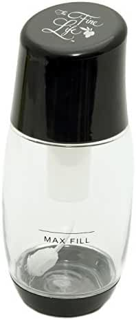 The Fine Life Ideal Olive Oil Mister Air Pressure Only Clog-Free Sprayer Black