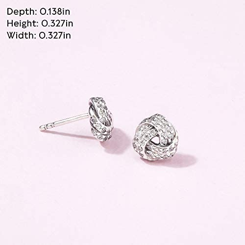 Pandora Jewelry Shimmering Knot Stud Cubic Zirconia Earrings in Sterling Silver