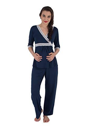Pijama gestante amamentação busto transpassado
