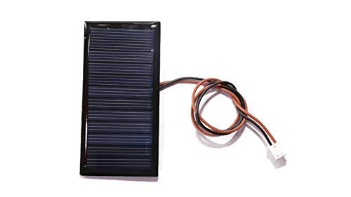 Electronicspices 6V 60mA Wire Attached Mini Power Solar Cells for Solar Panels, DIY Projects (Multicolour, 80 x 40 mm)