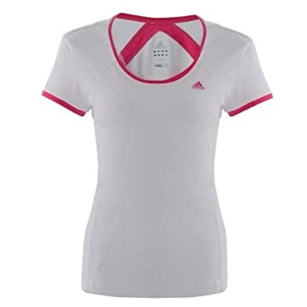 485ba8ee1 adidas Dri Fit Ladies Fitness Running T Shirt Womens Gym Exercise Sports  Top - White, Pink, Purple: Amazon.co.uk: Sports & Outdoors