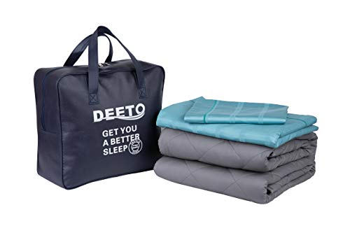 Cheap Deeto Adult Weighted Blanket & Removable Duvet/Pillow Cover| 20 lbs | 60