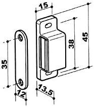Loqueteau magn/étique D/écor : Marron ITAR Force : 4 kg