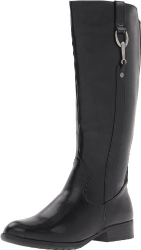 LifeStride Women's X-Ibit 2 Wide Calf Boot,Black,5 M US