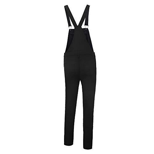 Kehen Women Distressed Stretch Overalls Fashion Denim Bib Pants Black Small by Kehen Women (Image #4)