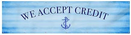 Nautical Stripes Heavy-Duty Outdoor Vinyl Banner 12x3 We Accept Credit CGSignLab