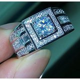 male wedding rings white gold - 3