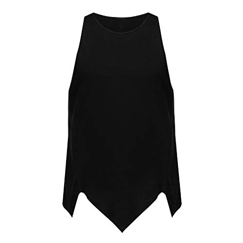 - iHPH7 Shirt Tee Blouse Vest Tank Men Muscle Tank Top Gym Work Out Men Irregularity Casual Sport Pure Color Sleeveless Shirt Tee Blouse Vest Tank XL Black