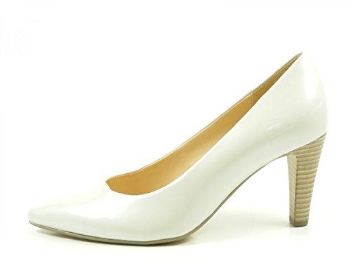 Gabor 61-280 Zapatos de tacón de material sintético mujer Offwhite